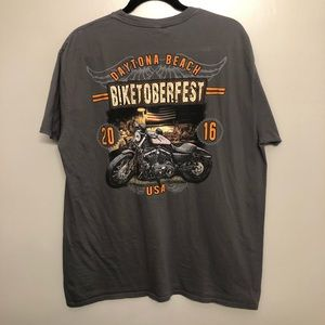 Daytona beach biketoberfest shirt gray 2XL